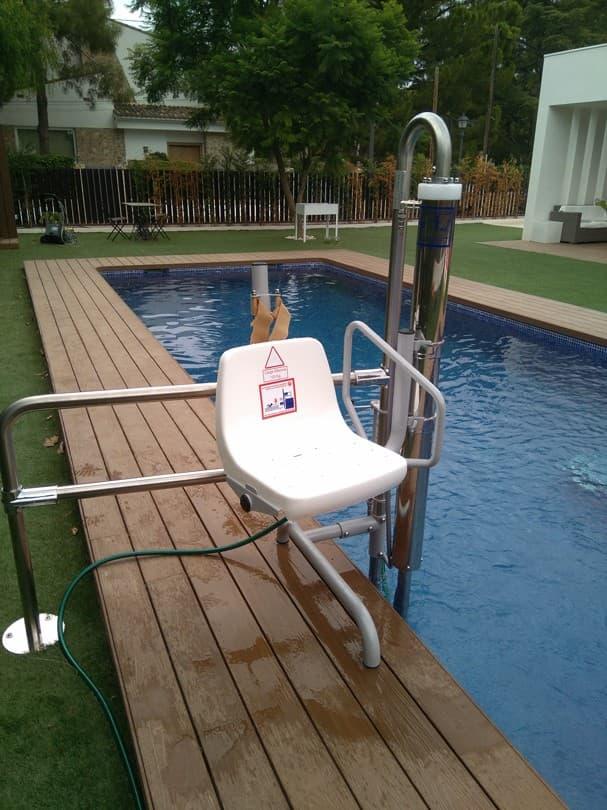 Elevador salvaescaleras piscina Simotec Poseidon 2 Castellon