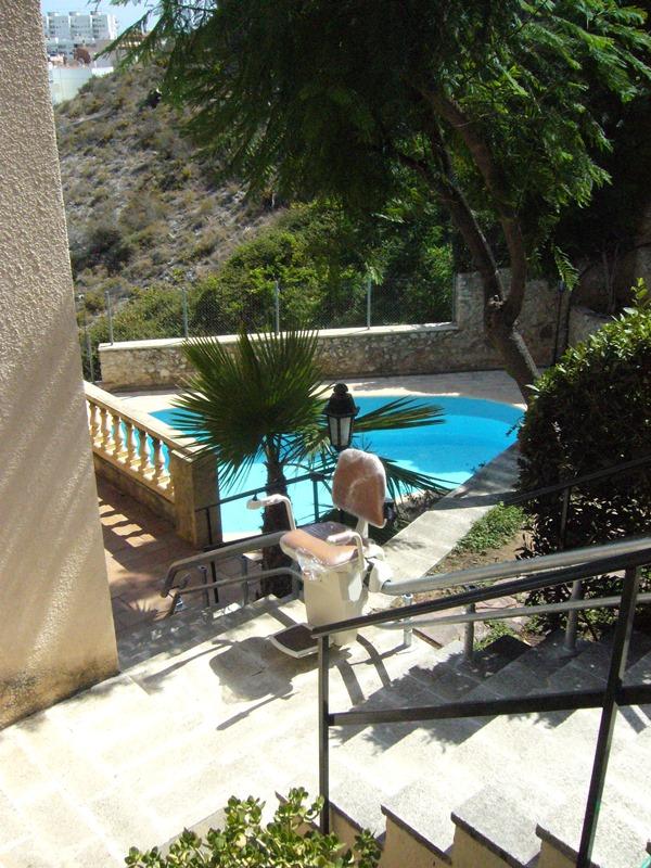 silla salvaescaleras Atenea exterior Simotec Cullera
