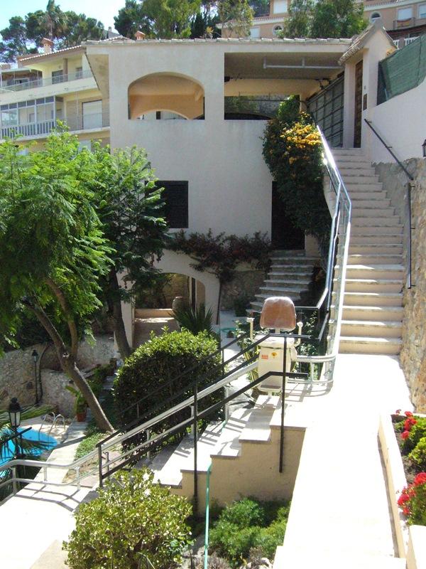silla salvaescaleras curva exterior Atenea Simotec Cullera