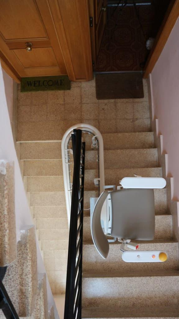 silla salvaescaleras elektra gris 3