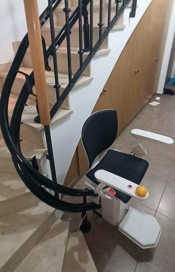 silla salvaescaleras elektra negra 3