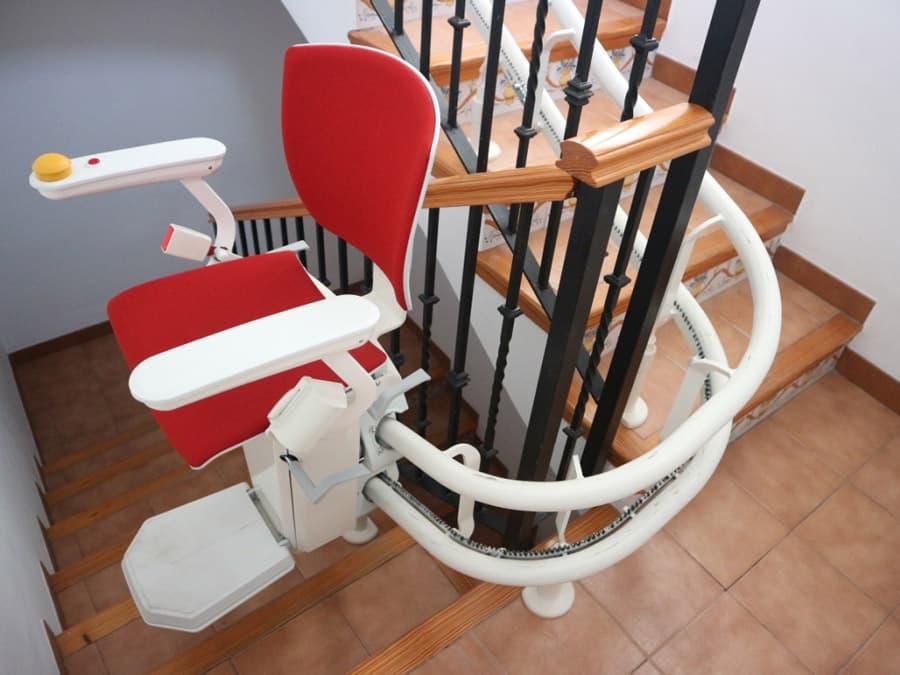 silla salvaescaleras elektra roja